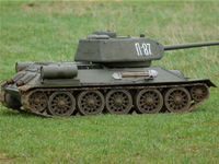 1/4th Scale T34/85 RC Tank