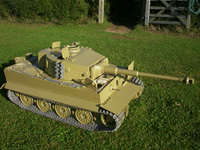 New standard specification Late 1/6th Tiger 1 RC Model Tank