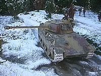 RC Tank in the snow