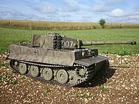 Super Detail late Tiger 1, Wittmans last Tiger, 007 - This Tiger has more optional detail parts, including a working engine hatch with dummy V12 Maybach